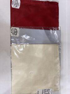Jos. A. Bank Pocket Square Silk Pocket Scarf Red, Cream, Silver Handkerchief NWT
