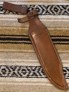 1985-1989 Era Factory Leather Western W49 Sheath Marked Coleman/Western NO KNIFE