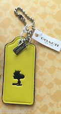 COACH X SNOOPY PEANUTS LEATHER YELLOW WOODSTOCK HANGTAG LIMTED EDITION NWT