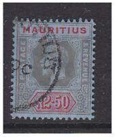 Mauritius - 1916, 2r50 Black & Red/Blue stamp - G/U - SG 202