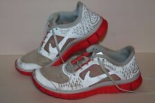 Nike Free Run 3 + Running Shoes,H2O Repel #535857, Lt Bue Tint/Pink, Women's 9.5