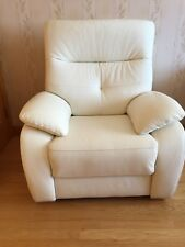 New Leather Recliner Chair electric Contemporary European white