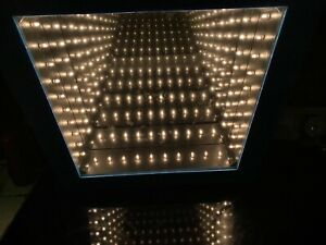 HPI-CAN YOU IMAGINE INFINITY MIRROR LIGHT BOX RARE BLUE BORDER 65776