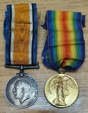 WWI Medal Pair War Victory DM2-135394 Pte. R McDougall ASC