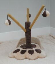 Paw Cat Scratching Tree Post - 3 Branches with Balls - Height 45 cm -
