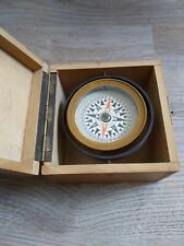 Antique Wwii Style Nautical Compass with Gimbal Mount In Box conversation piece