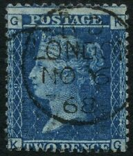 SG 45 2d Blue Plate 9 Very Fine CDS Used