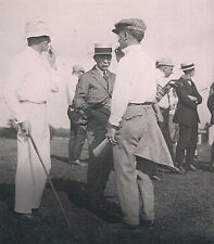 Negative Glass Slide 1920's Men Talking + Playing Golf Cape Cod MA Twin Brothers