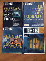1963 1965 1967 Look Magazines President John F Kennedy JFK Lot of 4 Issues