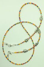 Bright Coloured Glass Beads Elephants Glasses Chain Spectacles Holder