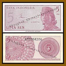 Indonesia 5 Sen, 1964 P-91 Unc