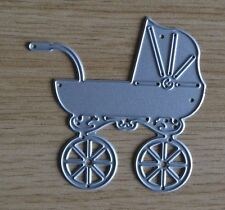 Large TRADITIONAL PRAM Pushchair Baby Z17 Metal Cutting Die
