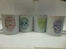 New listing sugar skull coffee mug set of 4 great shape barely used