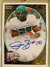 JONATHON STEWART OREGON DUCKS SUPERSTAR UPPER DECK 1 OF 1 AUTO-SUPER SHARP!!!!!!
