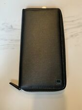 New Auth. Tumi Monaco Unisex Organizer Multi Card Holder Zip Around Black $475