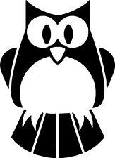 Cute Owl Bird Car,Van Camper Bonnet Window Wall Sticker LSB08 Medium