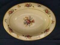 "LAMBERTON IVORY CHINA ROSE OF LAMBERTON 10"" OVAL VEGETABLE BOWL Excellent!"