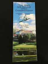 New listing ARNOLD PALMER AUTOGRAPH / SIGNED U.S SENIOR OPEN 1995 GOLF PAIRING  - IN PERSON