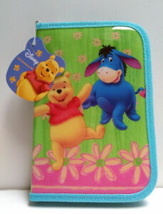 Disney Winnie The Pooh 13 Piece Stationery Set with Zippered Case NEW