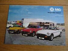 Mg Midget B & BGT brochure 1977 3264 JM