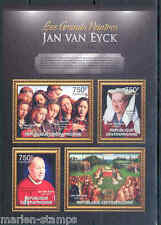 CENTRAL AFRICA 2012  THE GREATEST PAINTERS  JAN VAN EYCK SHEET NH