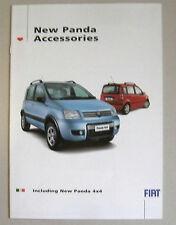 Fiat Panda gamme accessoires voiture Brochure. Comprend 4X4 Galerie de toit barres etc etc