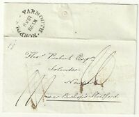 # 1838 YARMOUTH NORFOLK WRAPPER>THOS PROBERT 3/LINE BISHOPS STORTFORD PENNY POST