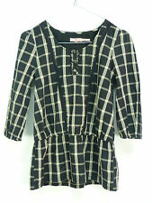 JUICY COUTURE TUNIKA SHIRT GR XS / SCHWARZ KARIERT & TREND - CHIC  ( N 3929 )