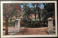 University Of Tenn. Knoxville Tennessee Vintage Postcard 1941 Postmark E118