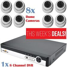 8 x 2.4MP Sony CCTV 4IN1 Dome Camera Full HD With 1 x 8 Channel 5 in 1 DVR XVR
