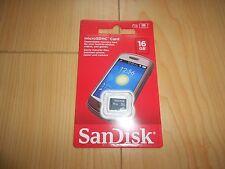 Original SanDisk 16GB Micro SD SDHC 16G Memory Card SandDisk *NEW/SEALED*Free SH
