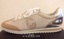 COACH Ian Mirror Metallic/Suede Sneakers In Women Size 11M