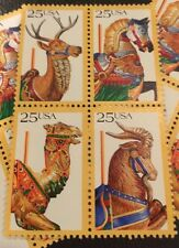 20  Carousel  Stamps For Holiday, Wedding And Valentine Mail
