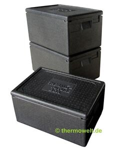 3 x Profi Thermobox Isolierbox 1/1 GN 257mm Nutzhöhe, Thermobox 1 1 GN