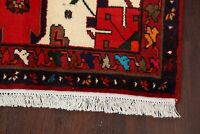 Geometric Red 3x5 ft. Hamedan Area Rug Wool Hand-knotted Oriental Foyer Carpet
