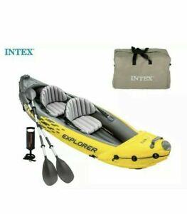 Intex K2 Explorer 2 Person Inflatable Kayak + Pump & Oars Brand New