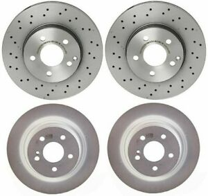 Brembo Front and Rear Brake Disc Rotors Kit For MB W204 C204 C250 C300 Sport Pkg