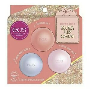 EOS 2020 Holiday Cotton Candy Snow, Caramel Brulée Sleigh & Champagne Pop 3pk