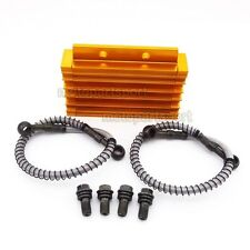 CNC Cooling Radiator Oil Cooler For Chinese Pit Dirt Bike BSE Kayo YCF Thumpstar