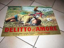 DELITTO D'AMORE GIULIANO GEMMA MOTOCICLETTA MOTO GUZZI FOTOBUSTA SANDRELLI