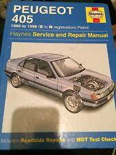 Haynes service & repair manual 1559 , Peugeot 405 1988 to 1996, e to n reg .2