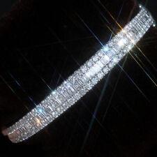 5Ct Natural Diamond 10K White Gold Bangle BWG9-10-1