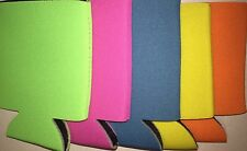 5 NEON COLORS Blank FOLDABLE Can Coozies Beer Cooler Foam Wedding/Party