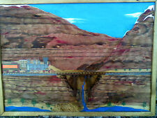 "SKIL SAW Wood Wall ART 24"" Mountain Rail Train South West Sci Fi Designs by Eric"