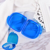 Blue Dental Denture Teeth Storage Case Box Protecting Container Collection Tr FT