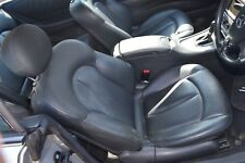 MERCEDES CLK C209 DRIVERS FRONT ELECTRIC AND HEATED LEATHER SEAT BLACK NAPPA