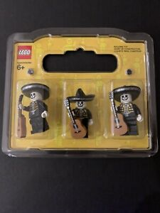 Lego Mexican Mariachi Day Of The Dead Minifigure Pack X3 X2