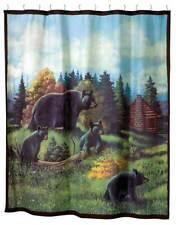Black Bear Lodge 70x72 Bear Wildlife Shower Curtain
