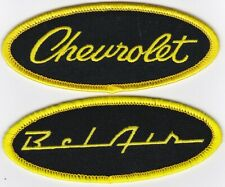 CHEVY BEL AIR BLACK YELLOW SCRIPT SEW/IRON ON PATCH BADGE EMBROIDERED 1955-1960