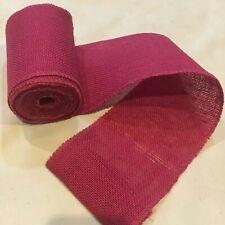 "5"" wide Pink Burlap Ribbon 10 Yard Roll 10oz - 30 feet Finished Edges BS145"